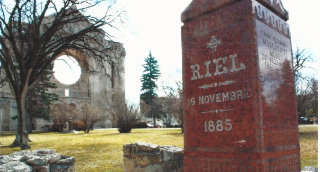 Riel headstone